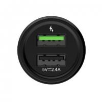 Автомобильное зарядное устройство Devia Quick Charge (универсальное, 3A, QC 3.0, 2xUSB, черное)
