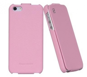 Чехол HOCO Duke Leather Case для iPhone 5 (pink)