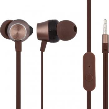 Наушники Hoco M32 Contented wave, универсальные с микрофоном (1.2 м), коричневые