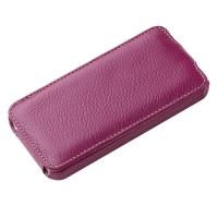 Чехол Vetti Craft Slim Flip Leather Case для iPhone 5 (фиолетовый)