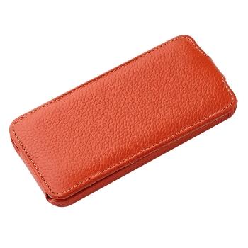 Чехол Vetti Craft Slim Flip Leather Case для iPhone 5 (оранжевый)