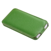 Vetti Craft Slim Flip Leather Case для iPhone 5 (зеленый)