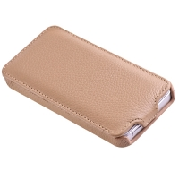Vetti Craft Slim Flip Leather Case для iPhone 5 (бежевый)