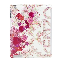 KENZO Chiara White Hard Case with Flourish Pattern