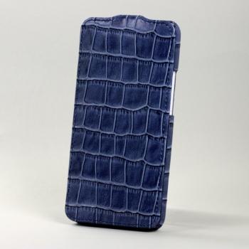 Чехол BONRONI Leather Case for New HTC One M7 (blue croc)