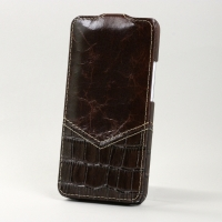 Чехол BONRONI Leather Case for New HTC One M7 (Coffee Brown)