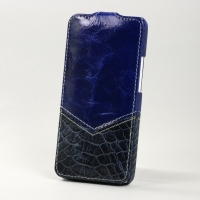 Чехол BONRONI Leather Case for New HTC One M7 (blue snake)