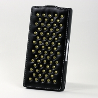 Чехол BONRONI Leather Case for Sony Xperia Z L36h (Black draco)