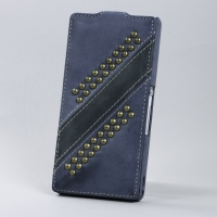 Чехол BONRONI Leather Case for Sony Xperia Z L36h (Blue draco)
