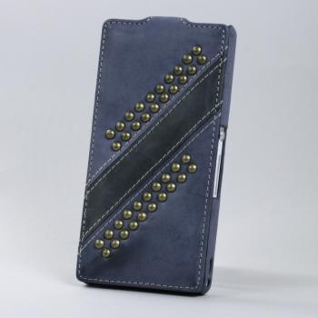 Чехол BONRONI Leather Case for Sony Xperia Z L36h (Blue draco)