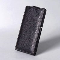 BONRONI Leather Case for Sony Xperia Z L36h (Black)