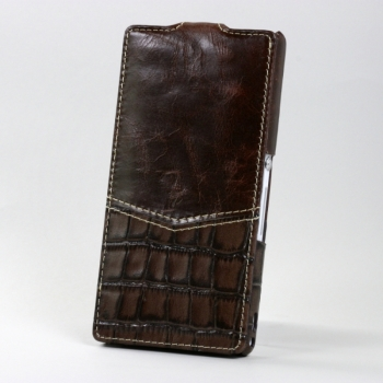 Чехол BONRONI Leather Case for Sony Xperia Z L36h (Brown)