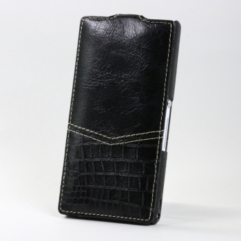 Чехол BONRONI Leather Case for Sony Xperia Z L36h (Black snake)