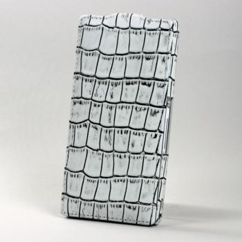 Чехол BONRONI Leather Case for Sony Xperia Z L36h (White croc)