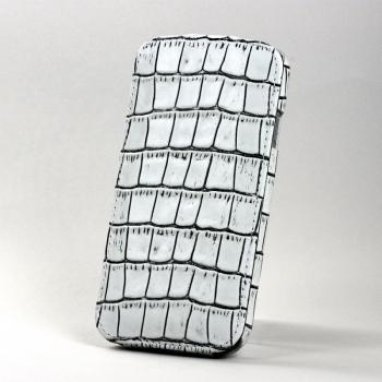 Чехол BONRONI Leather Case for Samsung Galaxy S4/IV GT-I9500 (white croc)