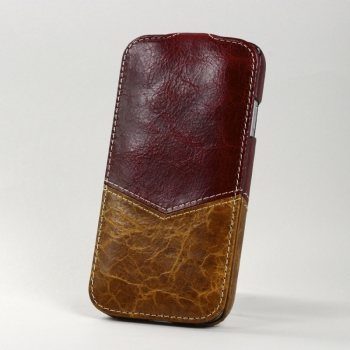 Чехол BONRONI Leather Case for Samsung Galaxy S4/IV GT-I9500 (red/brown)