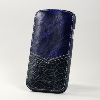 Чехол BONRONI Leather Case for Samsung Galaxy S4/IV GT-I9500 (blue snake)