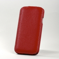 BONRONI Leather Case for Samsung Galaxy S4/IV GT-I9500 (red)