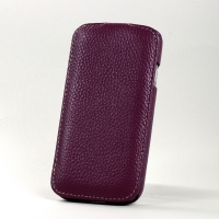 BONRONI Leather Case for Samsung Galaxy S4/IV GT-I9500 (purple)