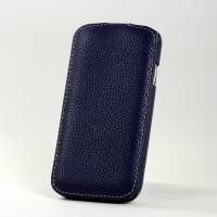 BONRONI Leather Case for Samsung Galaxy S4/IV GT-I9500 (blue)