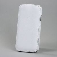 BONRONI Leather Case for Samsung Galaxy S4/IV GT-I9500 (white)