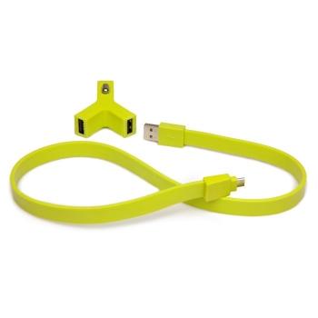 Автомобильная зарядка TYLT Y-CHARGE + SYNCABLE (green)