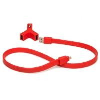 Автомобильная зарядка TYLT Y-CHARGE + SYNCABLE (red)
