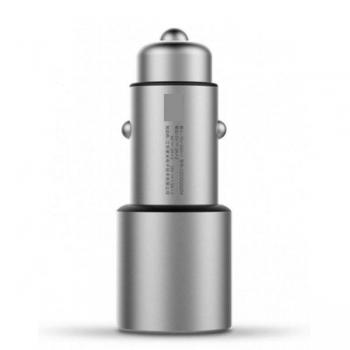 Автомобильное зарядное устройство Xiaomi Car Quick Charger 3.0 Silver CZCDQ02ZM