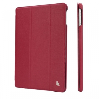 "Чехол Jisoncase Smart Leather Case  для iPad 9.7""(2017) малиновый"