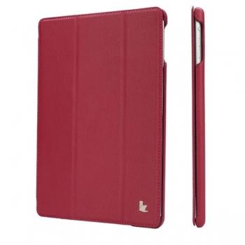 """Чехол Jisoncase Smart Leather Case  для iPad 9.7"""" 2018 года (6-е поколение) малиновый"""