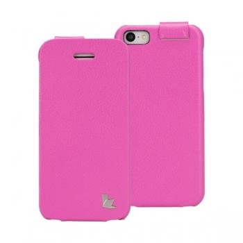 Чехол Jisoncase Fashion Flip (розовый) для iPhone 5C