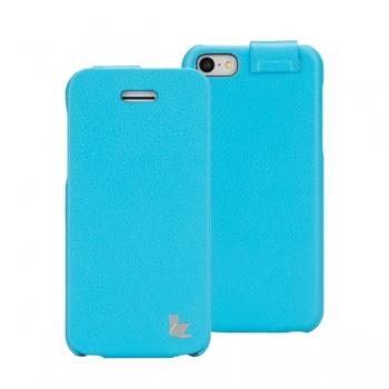 Чехол Jisoncase Fashion Flip (голубой) для iPhone 5C