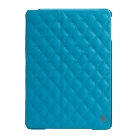 Jisoncase Quilted Leather Smart Case для iPad Air (стеганый) голубой