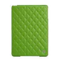 Jisoncase Quilted Leather Smart Case для iPad Air (стеганый) зеленый