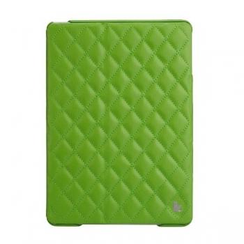 Чехол Jisoncase Quilted Leather Smart Case для iPad Air (стеганый) зеленый