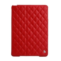 Jisoncase Quilted Leather Smart Case для iPad Air (стеганый) красный