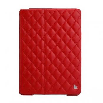 Чехол Jisoncase Quilted Leather Smart Case для iPad Air (стеганый) красный