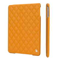 Jisoncase Quilted Leather Smart Case для iPad Air (стеганый) оранжевый
