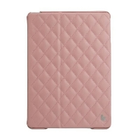 Jisoncase Quilted Leather Smart Case для iPad Air (стеганый) светло-розовый