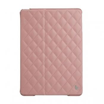 Чехол Jisoncase Quilted Leather Smart Case для iPad Air (стеганый) светло-розовый