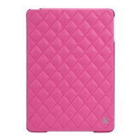 Jisoncase Quilted Leather Smart Case для iPad Air (стеганый) розовый