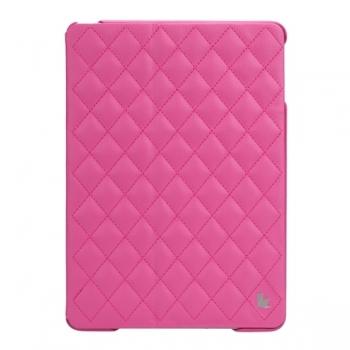 Чехол Jisoncase Quilted Leather Smart Case для iPad Air (стеганый) розовый