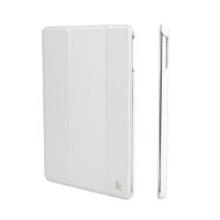 Jisoncase Smart Leather Case для iPad Air (белый)