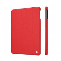 Jisoncase Smart Leather Case для iPad Air (красный)