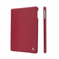 Jisoncase Smart Leather Case для iPad Air (малиновый)