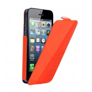 Чехол KENZO Glossy Logo Case для iPhone 5/5S (оранжевый)