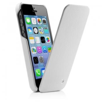 Чехол mobler Magic Flip (белый) для iPhone 5/5S + Пленка