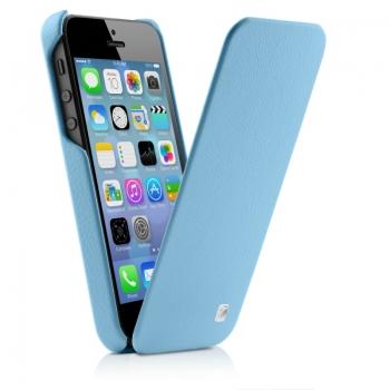 Чехол mobler Magic Flip (синий) для iPhone 5/5S + Пленка