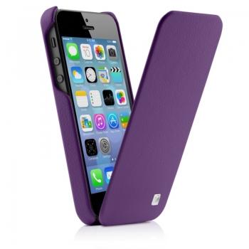 Чехол mobler Magic Flip (фиолетовый) для iPhone 5/5S + Пленка