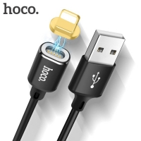 Кабель для  iPad Кабель Hoco U28 Magnetic Adsorption Lightning-USB для Apple (1м), черный